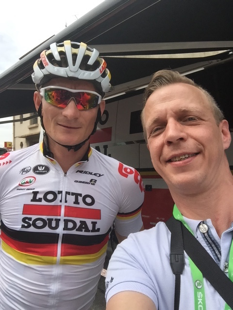 Isn't André the nicest guy in the peloton?