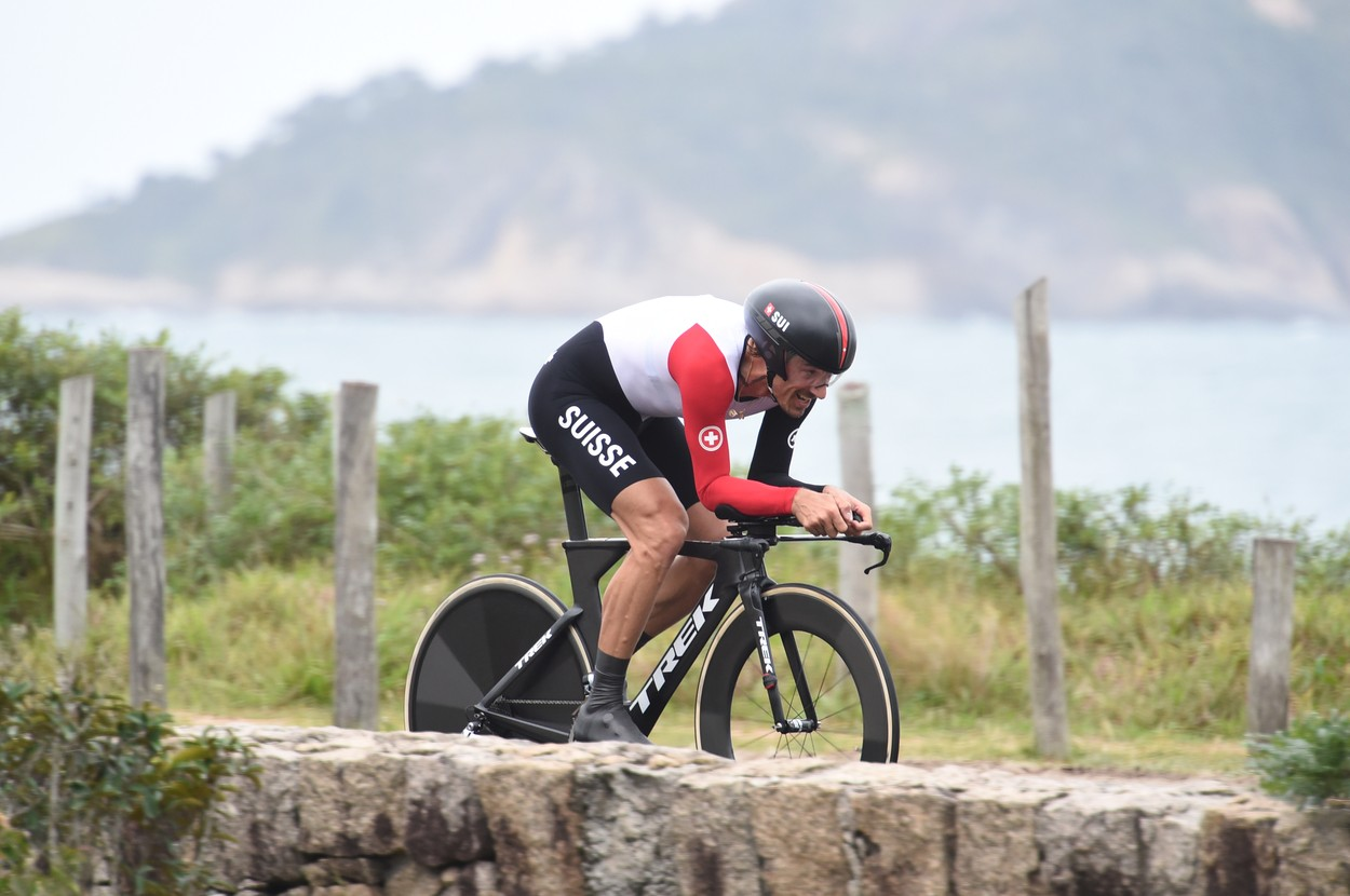 August 10, 2016 - Rio de Janeiro, Brazil: Fabian Cancellara capped his remarkable career with another time trial gold medal at the Rio Games. He cruised to the finish line 47 seconds ahead of Tom Dumoulin of the Netherlands. Cancellara, 35, began weeping the moment Tour de France winner Christopher Froome, the last rider of the day, crossed the finish line. He announced more than a year ago that this would be his final season as a cyclist., Image: 296727300, License: Rights-managed, Restrictions: No publication in Italy, Model Release: no, Credit line: Profimedia, Polaris