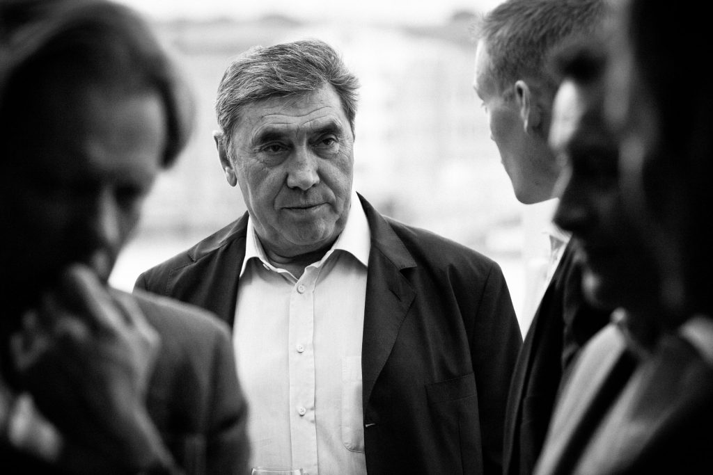 Eddy Merckx at the Rouleur Supper Club, April 2011
