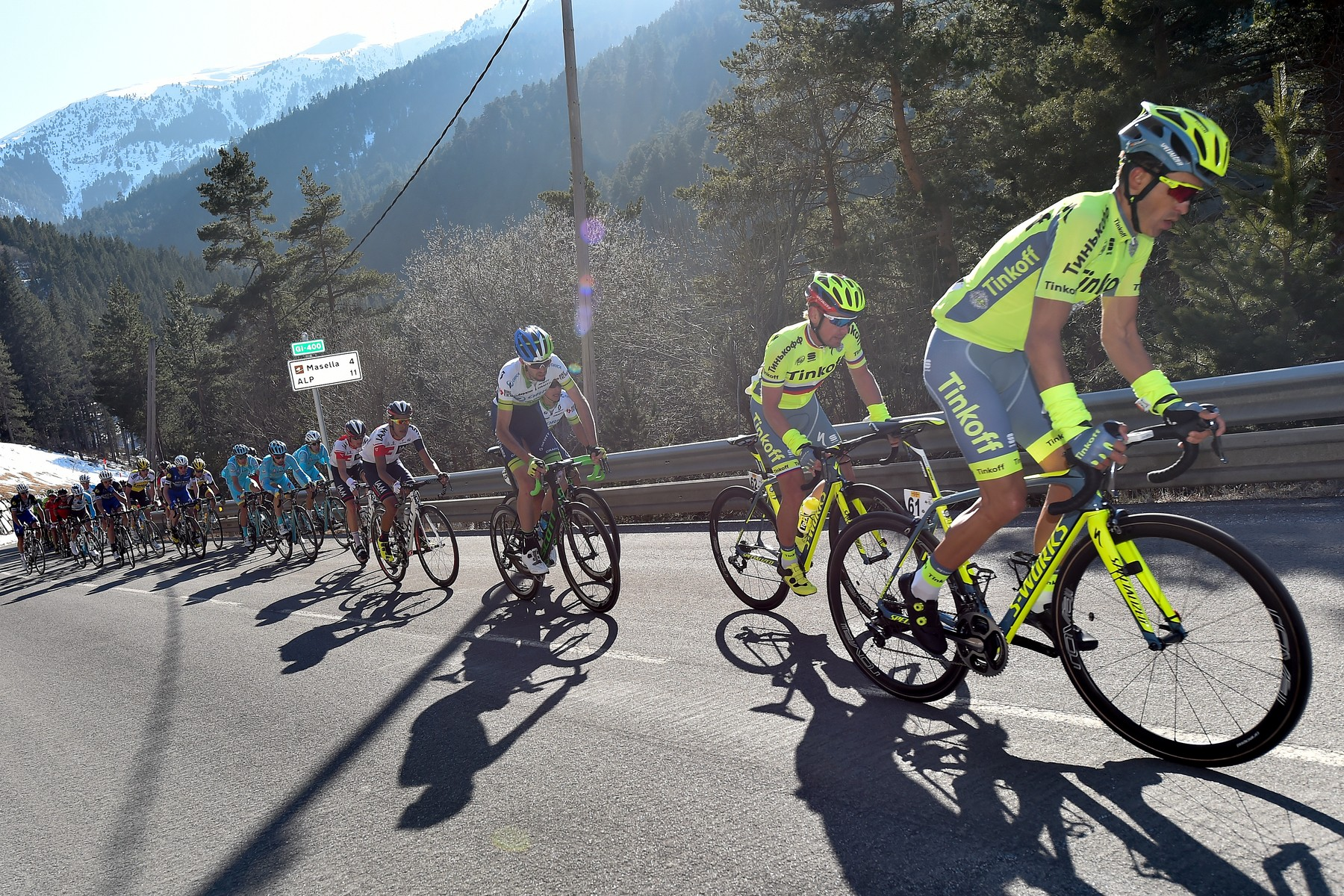 Tinkoff Spanish rider Alberto Contador competes during the 172,1km Girona to La Molina third stage of the 96th Volta Catalunya, near la Molina on March 23, 2016., Image: 279142735, License: Rights-managed, Restrictions: , Model Release: no, Credit line: Profimedia, AFP