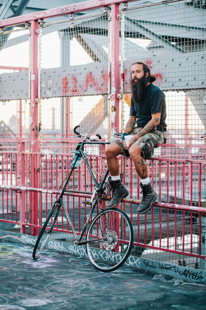 We guess he plans his cycling routes depending on the density of surrounding railings.
