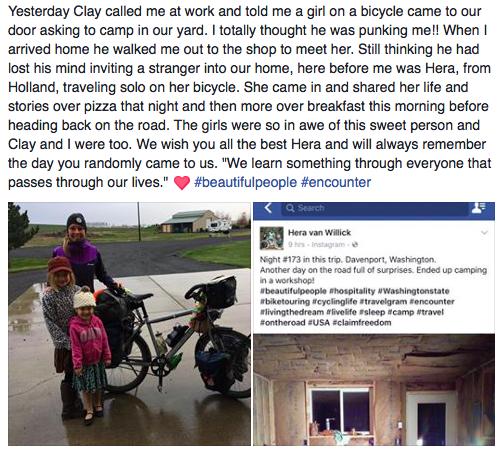 Lindsey's Facebook post.