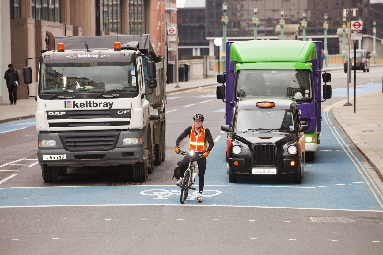 Cyclists and Trucks