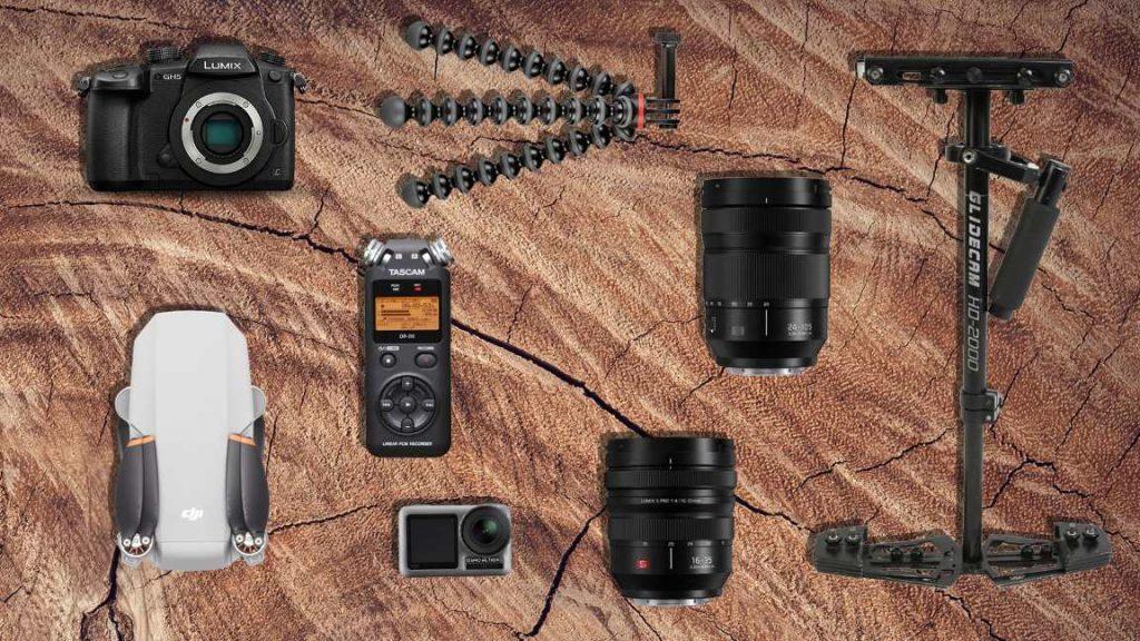 Bikepacking videomaking components