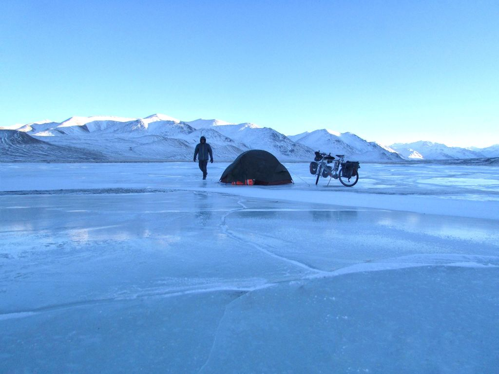 A tent on ice
