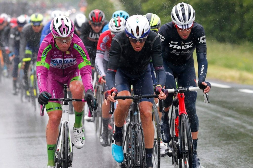A pack of riders at the 2021 GIro