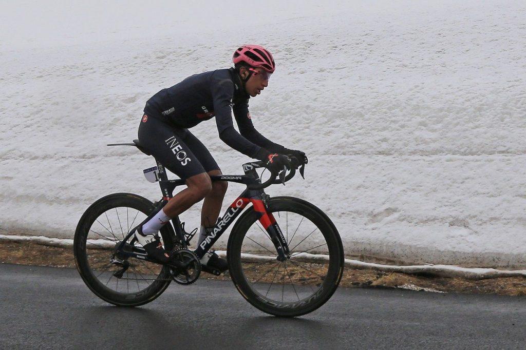 Egan Bernal at the 2021 Giro