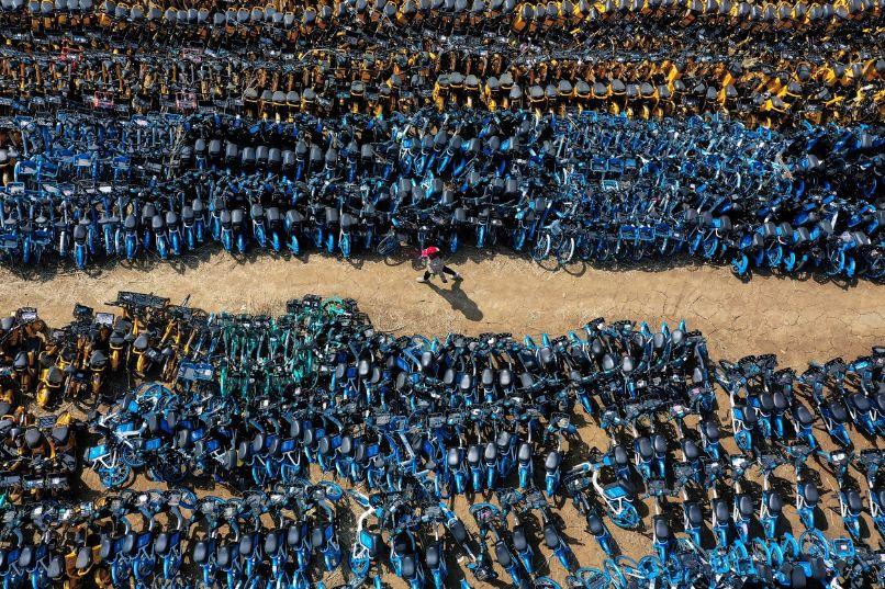 China bicycler graveyard