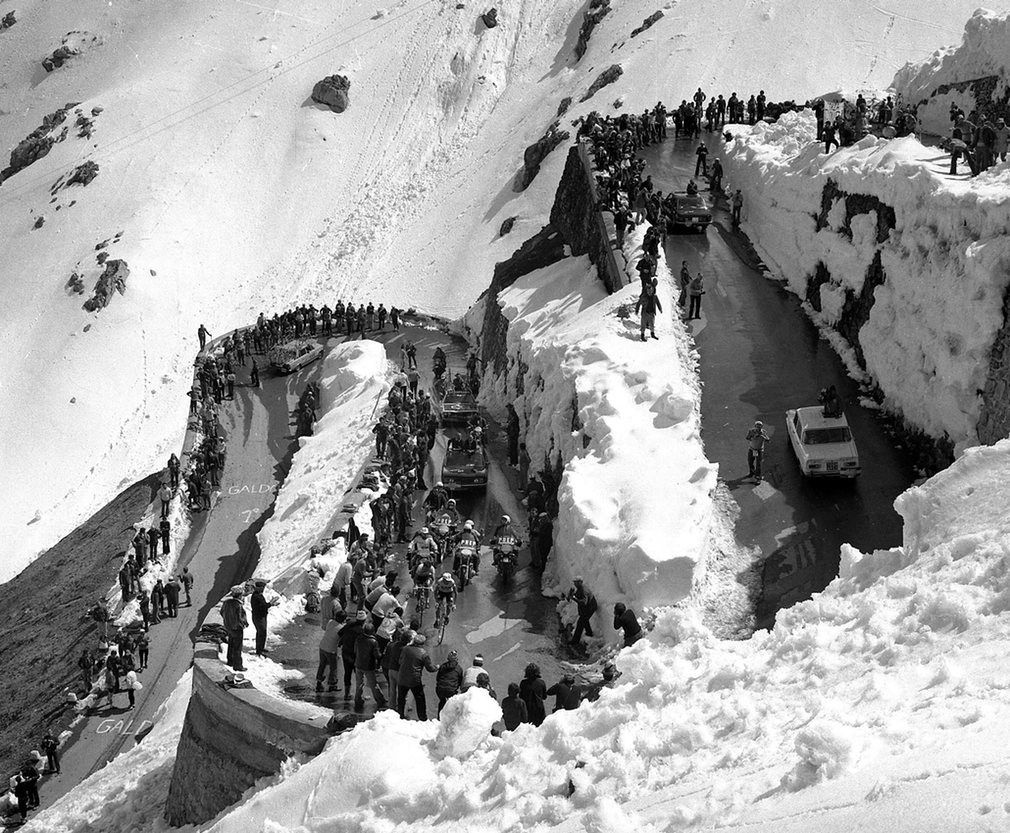 The Stelvio Pass in 1975.