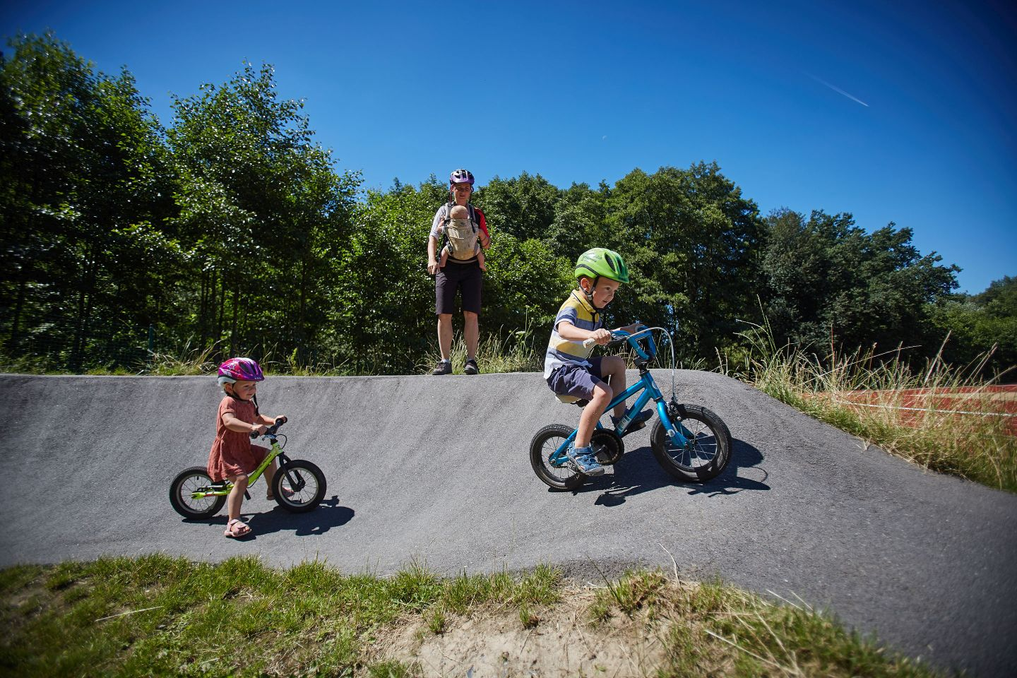 Pump Track with Kids