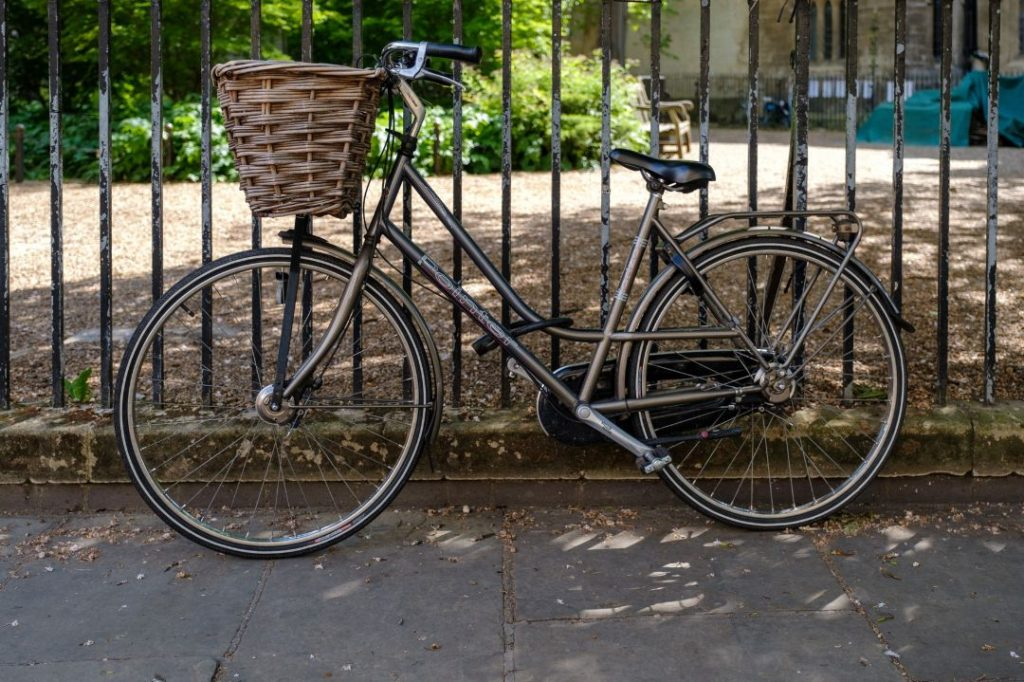 Bicycle with a basket