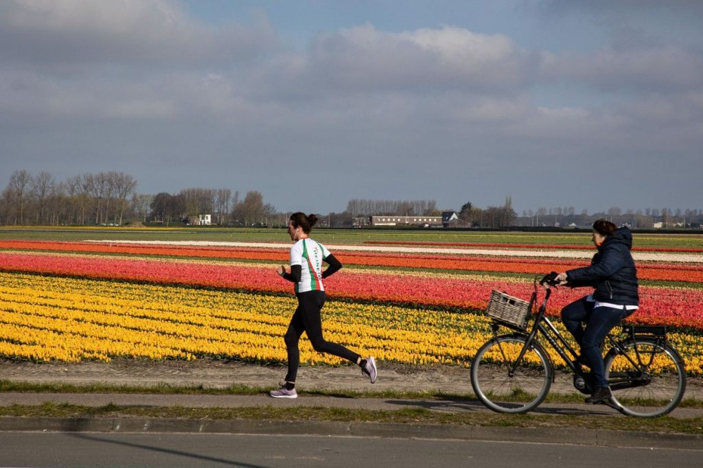 Cycling and running