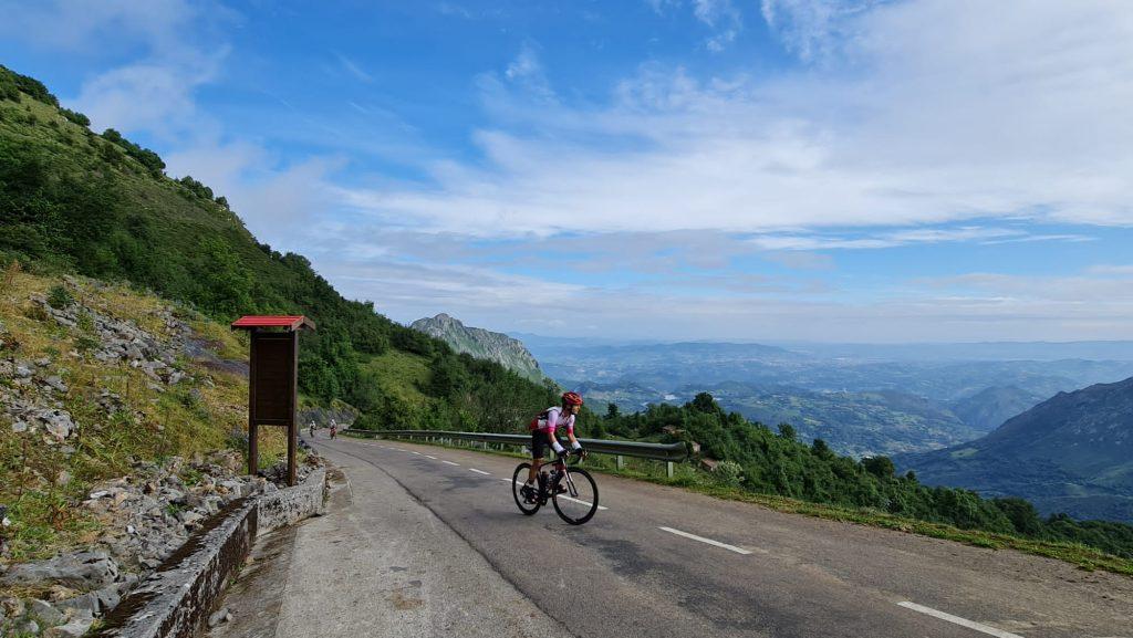 La Cueña les Cabres. Con el 22% de media en 500 metros, es la zona más dura del Angliru.