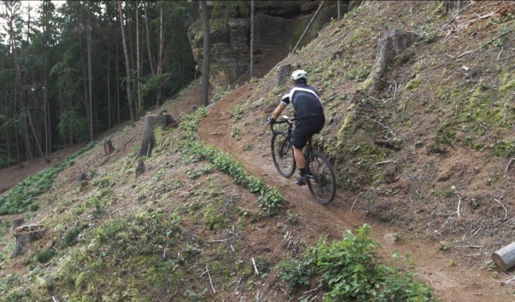 Climbing steep gravel