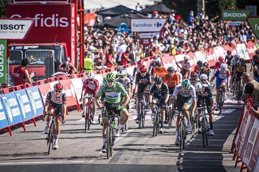 Tercera victoria de Jakobsen en La Vuelta. Foto La Vuelta